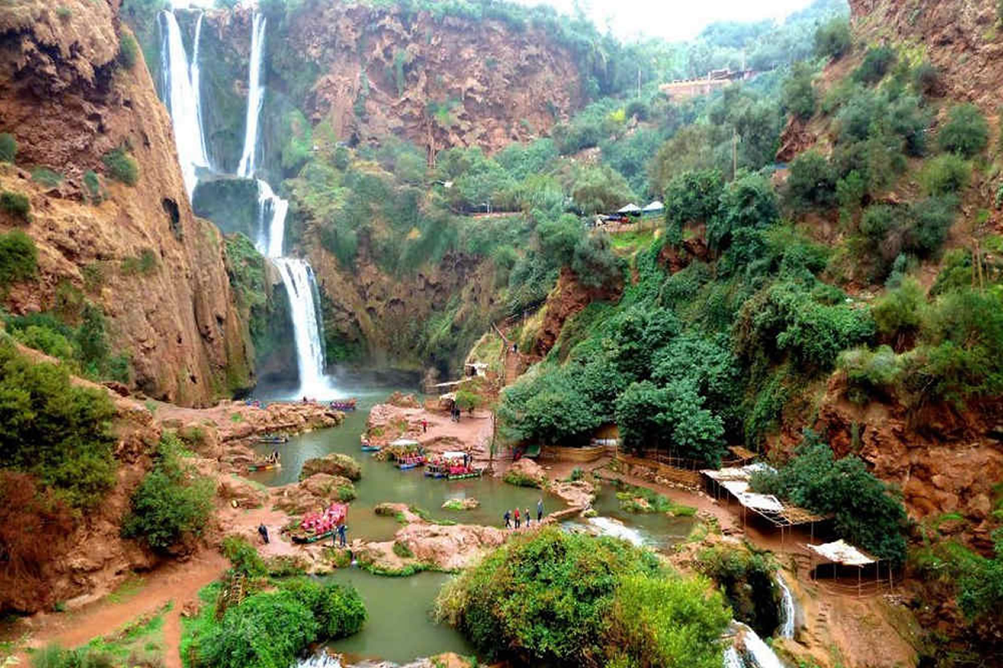 Marrakech to Ouzoude cascades shared budget group day trip
