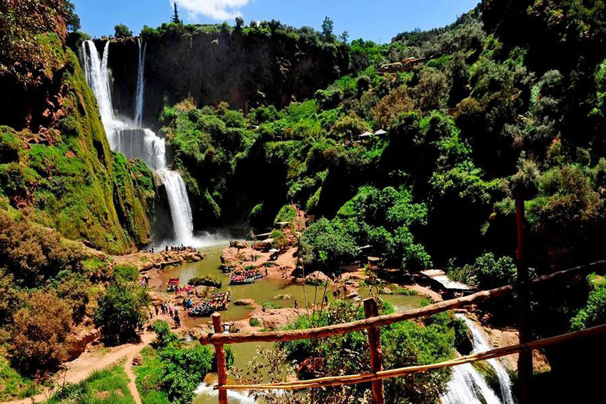 Marrakech to Ouzoude cascades shared budget day trip